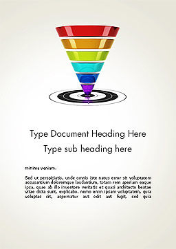 Conversion Funnel Word Template, Cover Page, 14093, Careers/Industry — PoweredTemplate.com