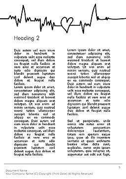 Love Heartbeat Word Template, Second Inner Page, 14094, Holiday/Special Occasion — PoweredTemplate.com