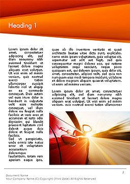 High-Speed Car Word Template, First Inner Page, 14096, Cars/Transportation — PoweredTemplate.com