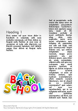 Welcome Back To School Word Template First Inner Page