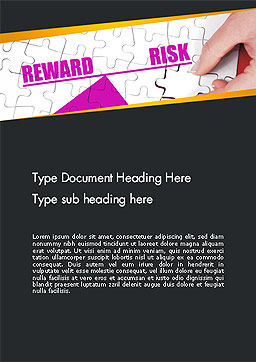 Risk vs Reward Word Template, Cover Page, 14098, Consulting — PoweredTemplate.com