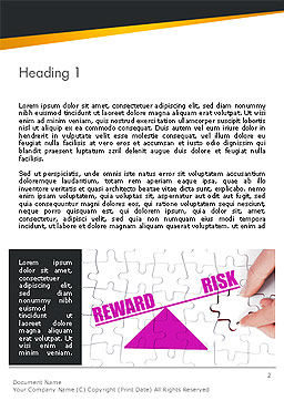 Risk vs Reward Word Template, First Inner Page, 14098, Consulting — PoweredTemplate.com