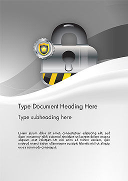 Secured and Locked Word Template, Cover Page, 14100, Legal — PoweredTemplate.com
