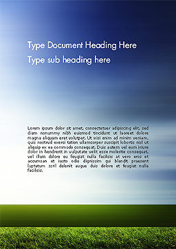 Grass and Sky Word Template Cover Page