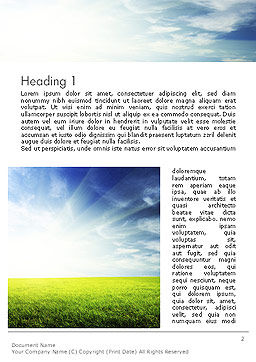 Grass and Sky Word Template First Inner Page