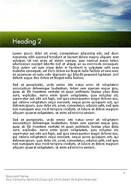 Grass and Sky Word Template Second Inner Page