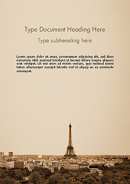 Destination France Word Template, Cover Page, 14105, Flags/International — PoweredTemplate.com