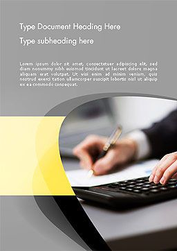 Bookkeeping and Accounting Word Template, Cover Page, 14106, Financial/Accounting — PoweredTemplate.com