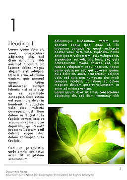Translucent Green Leaf Word Template First Inner Page