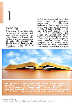 Open Book Word Template, First Inner Page, 14109, Education & Training — PoweredTemplate.com