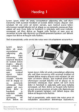 Corporate Business Word Template, First Inner Page, 14111, Business — PoweredTemplate.com