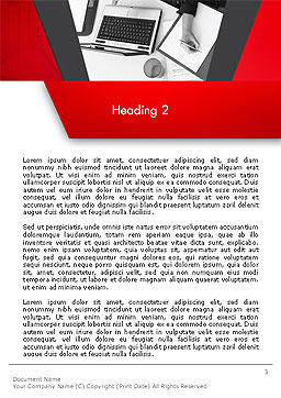 Corporate Business Word Template Second Inner Page
