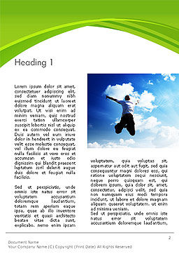 Jump Into the Sky Word Template, First Inner Page, 14112, People — PoweredTemplate.com