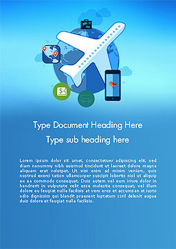 Modern Online Travel Word Template, Cover Page, 14118, Careers/Industry — PoweredTemplate.com