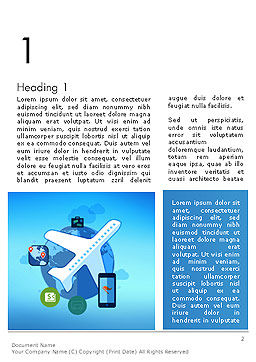 Modern Online Travel Word Template First Inner Page