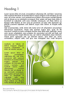 Abstract Paper Tree Word Template, First Inner Page, 14120, Nature & Environment — PoweredTemplate.com