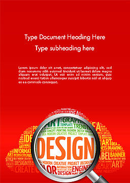 Search for Design Word Template, Cover Page, 14121, Careers/Industry — PoweredTemplate.com