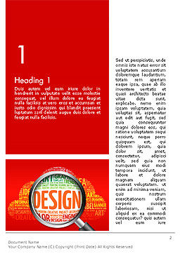 Search for Design Word Template First Inner Page