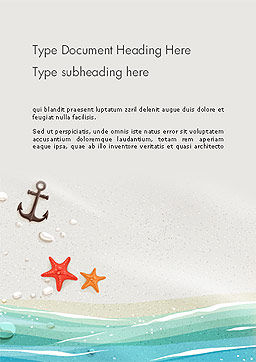 Seacoast Word Template, Cover Page, 14124, Holiday/Special Occasion — PoweredTemplate.com