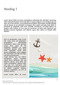 Seacoast Word Template, First Inner Page, 14124, Holiday/Special Occasion — PoweredTemplate.com
