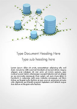 Digital Analytics Word Template, Cover Page, 14125, 3D — PoweredTemplate.com