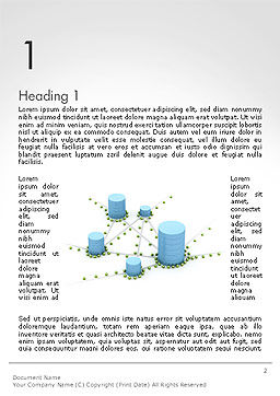 Digital Analytics Word Template, First Inner Page, 14125, 3D — PoweredTemplate.com