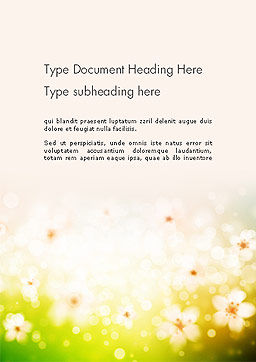Grass and Flowers Word Template Cover Page