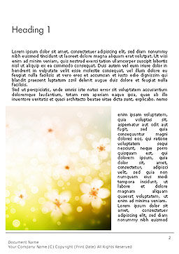 Grass and Flowers Word Template First Inner Page
