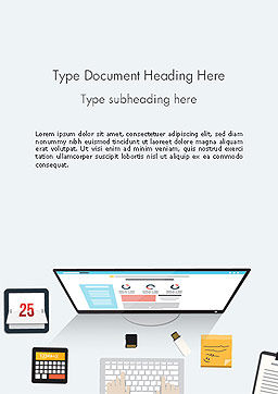 Creating a Web Page Word Template, Cover Page, 14127, Careers/Industry — PoweredTemplate.com