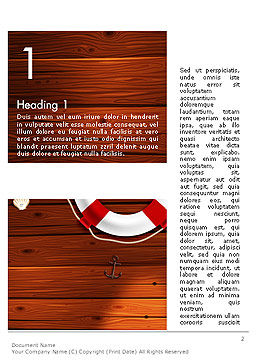 Beach Vacation Word Template, First Inner Page, 14128, Holiday/Special Occasion — PoweredTemplate.com