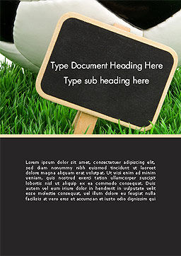Soccer School Word Template, Cover Page, 14132, Sports — PoweredTemplate.com