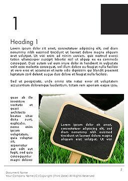 Soccer School Word Template, First Inner Page, 14132, Sports — PoweredTemplate.com