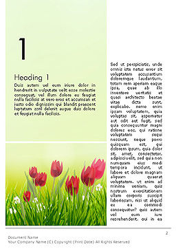 Flower Field Word Template First Inner Page
