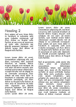 Flower Field Word Template Second Inner Page