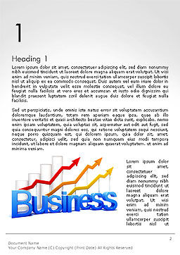 Business Confidence Word Template First Inner Page