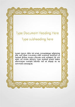 Blank Certificate Word Template, Cover Page, 14135, Business — PoweredTemplate.com