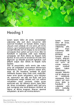 Watercolor Spot with Green Leaves Word Template First Inner Page
