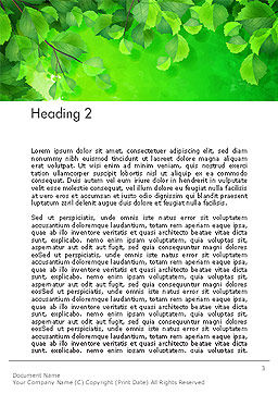 Watercolor Spot with Green Leaves Word Template Second Inner Page