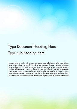 Glittering Sky Abstract Word Template, Cover Page, 14141, Nature & Environment — PoweredTemplate.com