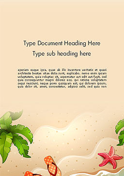 Happy Summer Holidays Word Template, Cover Page, 14142, Holiday/Special Occasion — PoweredTemplate.com