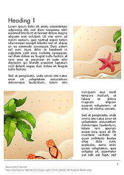 Happy Summer Holidays Word Template, First Inner Page, 14142, Holiday/Special Occasion — PoweredTemplate.com