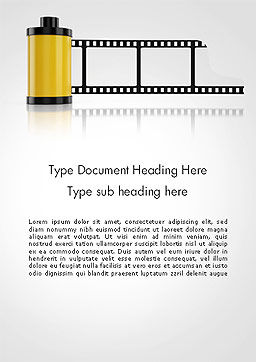Camera Film Roll Word Template, Cover Page, 14143, Careers/Industry — PoweredTemplate.com