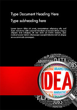 Ideation and Analysis Word Template, Cover Page, 14144, Business Concepts — PoweredTemplate.com