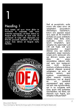 Ideation and Analysis Word Template, First Inner Page, 14144, Business Concepts — PoweredTemplate.com