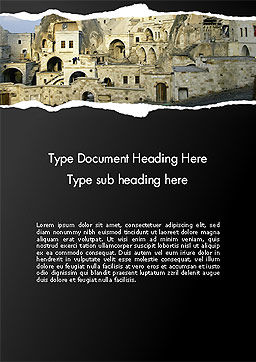 Cave City Word Template, Cover Page, 14154, Construction — PoweredTemplate.com
