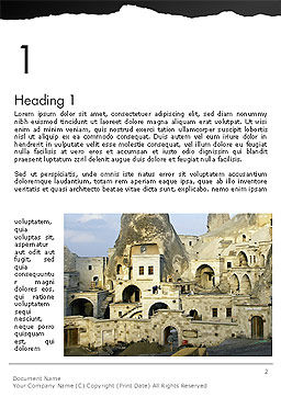 Cave City Word Template, First Inner Page, 14154, Construction — PoweredTemplate.com