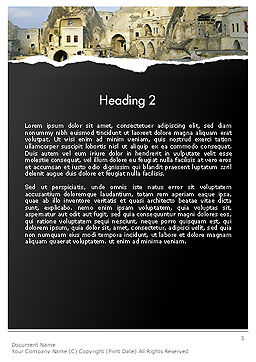 Cave City Word Template, Second Inner Page, 14154, Construction — PoweredTemplate.com