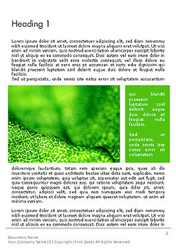 Green Leaf Texture Word Template First Inner Page