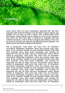 Green Leaf Texture Word Template Second Inner Page
