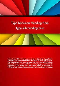 Colored Ribbons Converging to One Point Word Template Cover Page